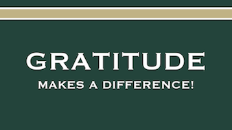 Gratitude Makes a Difference