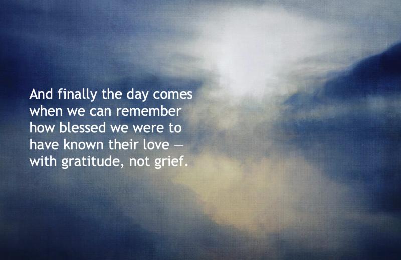 Gratitude not Grief
